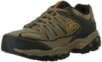 Skechers Mens Memory Fit 50125 Low Top Lace Up, Pebble/Black/Pebble, Size 8.0 3r