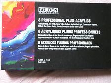 Golden 8 Professional Fluid Acrylics 15ml