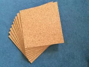 CORK FLOOR TILES - FACTORY ACRYLIC SEALED - 300 x 300 x 4 mm