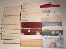 1968 -1994 US Mint Mint sets (25 Set) 69 70 73 75 79 81 84 88 90 Mint Set COA