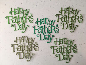 Happy Father's Day Die Cuts (Pack Of 5) Shades Of Green