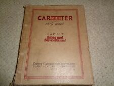 Carbureter 100% Tested Export Sales & Service Manual - As Photo's