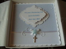 Handmade Personalised Keepsake Christening Card