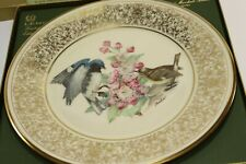 1980 Lenox Collectible Plate Black-Throated Blue Warblers E.M. Boehm Bird Series
