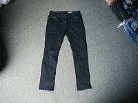 "Denim co Slim Jeans Waist 32"" Leg 31"" Black Faded Mens Jeans"