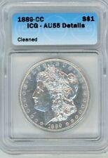 1889-CC Morgan Silver Dollar ICG AU55 AU ALMOST UNCIRCULATED - LOOKS NICER