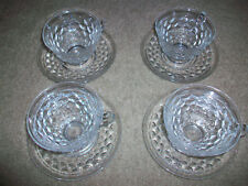 Set of 4 American Fostoria Cups and Saucers Cup Saucer