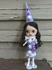 Ooak Blythe Doll Takara / Tomy Cwc Hasbro Customized Brunette & Outfit Halloween