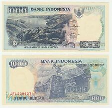 Indonesia 1000 Rupiah 1992 P-129 NEUF UNC Uncirculated Banknote