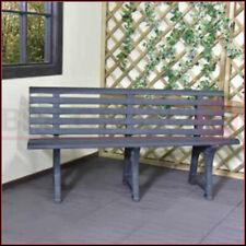 Panchina in Plastica 3 Posti Resina Panca Arredo da Giardino Seduta per Esterno