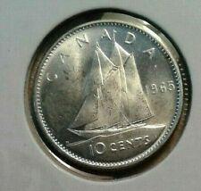 silver 10 cents 1965 Bu coin  look picture -----fast shipping