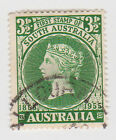 (W1126) 1955 AU 3½d green SA centenary of first stamp (C)
