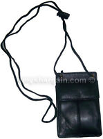 New Concealable ID Case, Credit Card Case, Black Wallet pouch Money Holder bnwt