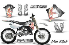 YAMAHA YZ125 YZ 125 2 STROKE 1991-1992 GRAPHICS KIT CREATORX DECALS YRW
