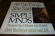 """SIMPLE MINDS - Vinyle Maxi 45 tours / 12"""" !!! ALL THE THINGS SHE SAID ! VS860/12"""