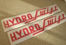 """Hydro-Swift Vintage Boat Decals Die-Cut 2-Pak 18"""" FREE SHIP + Free Fish Decal!"""