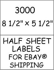 3000 HALF SHEET STICKY! LABELS FOR EBAY® SHIPPING