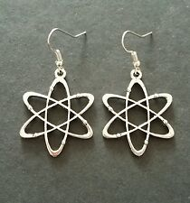 Big Bang Theory Science Atom Charm Dangle Earrings - 32mm - New - UK Seller