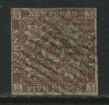 Newfoundland 1861 1d reddish brown used