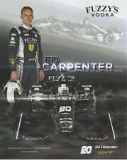 2018 Ed Carpenter Fuzzy's Vodka Chevy Dallara Indy 500 Indy Car postcard