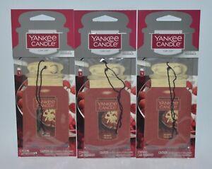 3 YANKEE CANDLE BERRY TRIFLE CLASSIC CAR JAR AIR FRESHENER CLOSET RV HANGING LOT