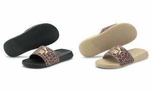 Puma Ladies Beach Sandals Slippers Popcat 20 Wns Leo