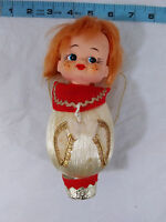 Vintage Christmas Ornament Mid Century Elf Angel Made in Japan With Sticker