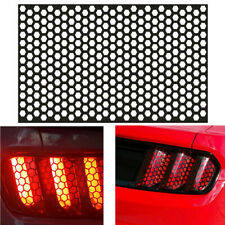 PVC Black Car Rear Lights Tail Cover Honeycomb Sticker Taillight Exterior Decal