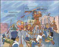 Maldives 1986 Disney/Davy Crockett/Alamo//StampEx/Cartoons/Animation m/s  b4762f