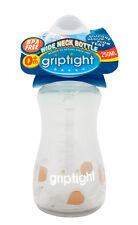 GripTight Wide Neck Bottle 250ml Baby Feeding Bottles Teats