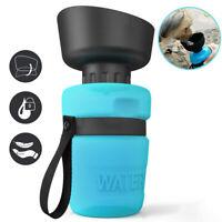 520ML Pet Travel Water Bottle Portable Foldable Dog Cat Drink Feeding Bowl SH
