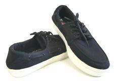 Quiksilver Surfside Boys Canvas Skate Boat Sneaker Shoe Black 5 US  4 UK 37 EU