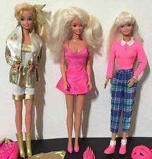 Lot of 3 Barbies Sweetheart Barbie Hollywood Hair Barbie Barbie & Ginger #501