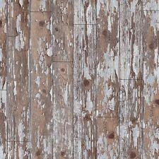 ARTHOUSE OLD WHITE GREY SHABBY WASHED WEATHERED WOOD WALLPAPER 694701