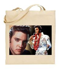 Shopper Tote Bag Cotton Canvas Cool Icon Stars Elvis Presley Ideal Gift Present