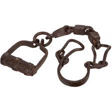 Biscottini ancienne chaine pour esclaves en fer Forgé aux Dimensions L76 Xh3 cm