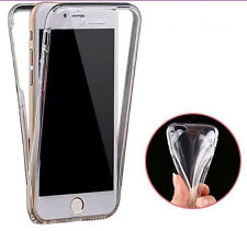 NEW Clear front and back 360 gel case TPU Clear Silicone Cover Various Tiny Dots