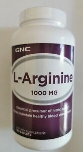 GNC L-Arginine 1000mg 180 Caplets EX:03/2023