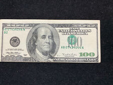 Major Printing Error $100 Us Bill Serial Number Near Top Left