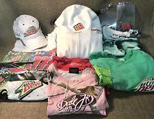 Women's Dale Earnhardt Jr Size M/Lg Lot of 6 Shirts,Hoodie,Mt Dew Hat,2 Lanyards