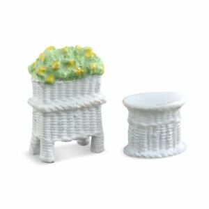 Miniature Dollhouse Fairy Garden Tiny Micro (HO) Table & Planter - Buy 3 Save $5