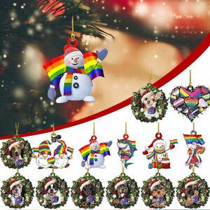 2022 Christmas Ornaments Resin Christmas Tree Hanging Pendant Unique Tree De^lk