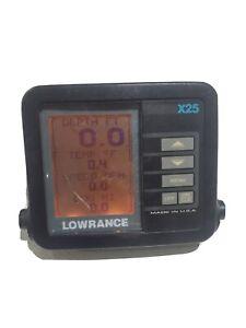 Lowrance X-25  Fishfinder Sonar Head Unit ONLY **READ** X 25