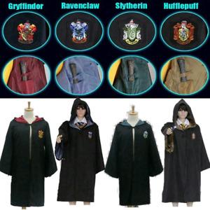 UK Harry Potter Gryffindor Ravenclaw Slytherin Hufflepuff Robe Cloak Tie Cosplay