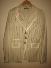 A WOMENS LOVELY STYLISH ATMOSPHERE COFFEE CREAM PIN STRIPED JACKET SIZE16
