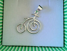 Openwork Bicycle Pendant - Sterling Silver