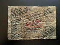 Vintage Mars Dr. I.Q. 5 Cent Wax Candy Bar Wrapper