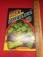 The Incredible Hulk's Smashing Puzzlers Marvel Puzzle Book 1978