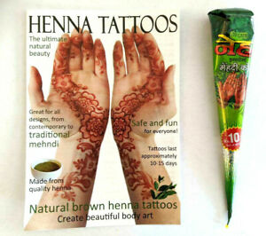 WHOLESALE PRICE, NEHA DEEP DARK BROWN Henna BRIDAL Cones + designs 100% FRESH  G