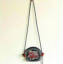 Colorful Thai Elephant Fabric Shoulder Bag Purse Cross Body Wallet Fabric Zip #